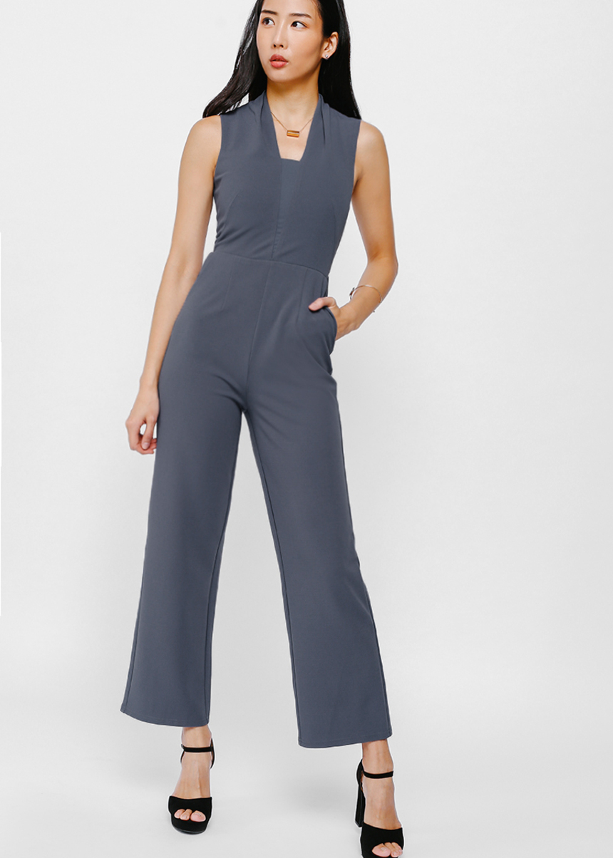 Jorren Mesh Panel Jumpsuit