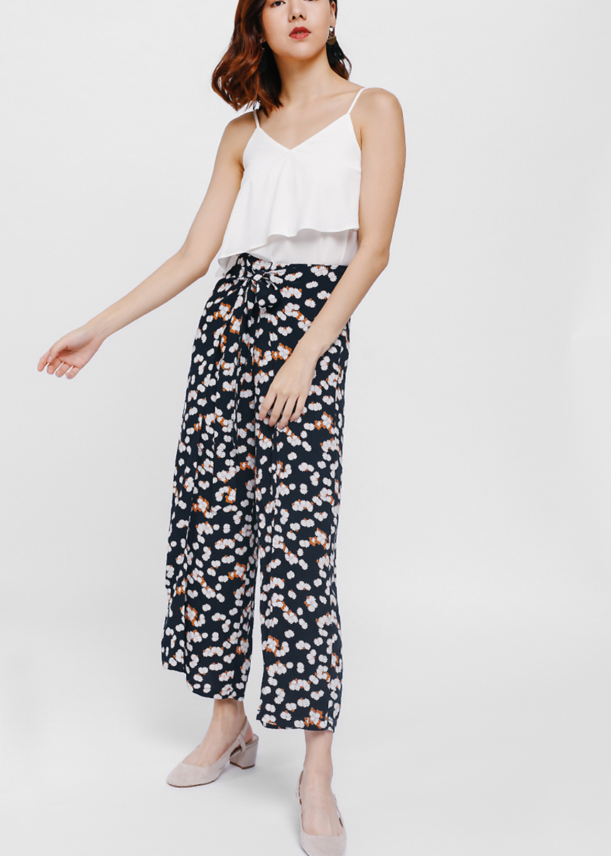 Casya Printed Foldover Pants