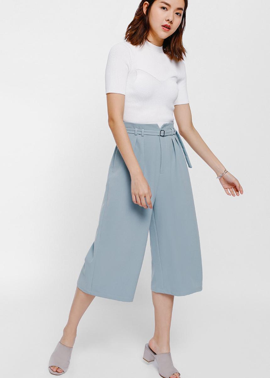 Camarre Belted Paperbag Culottes