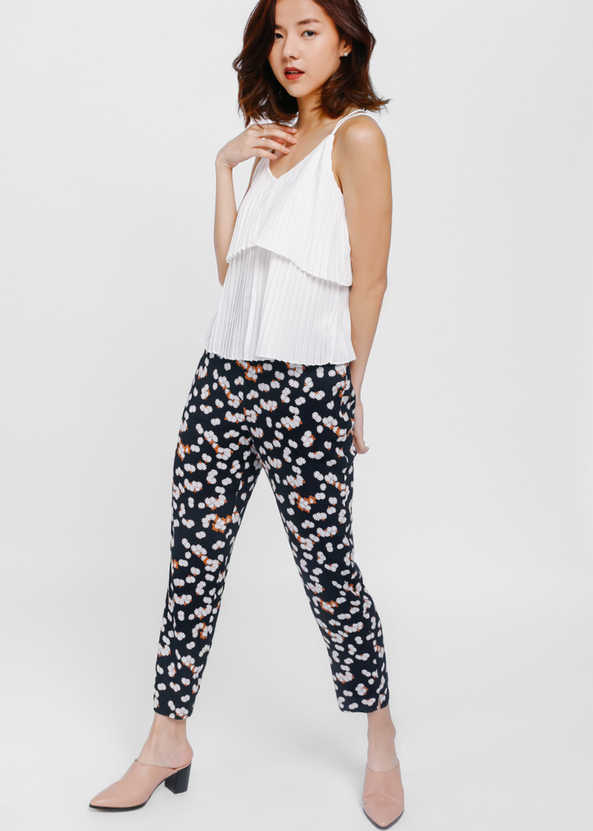 Casya Printed Cropped Pants