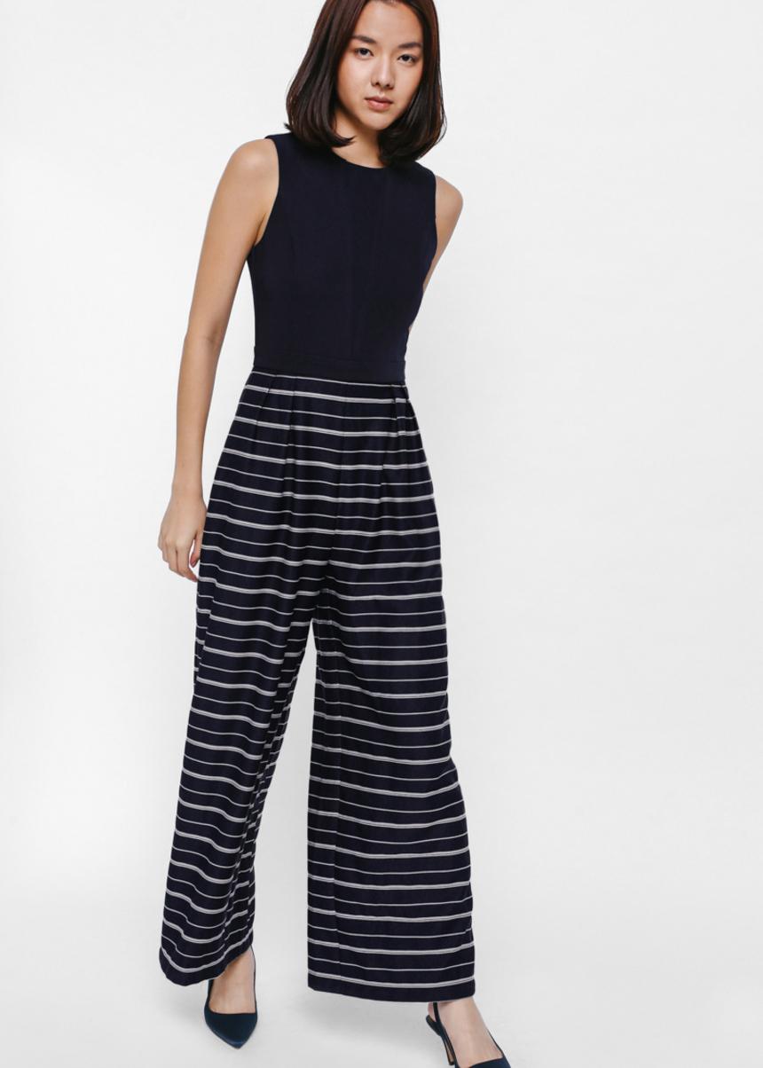 Junna Contrast Striped Jumpsuit