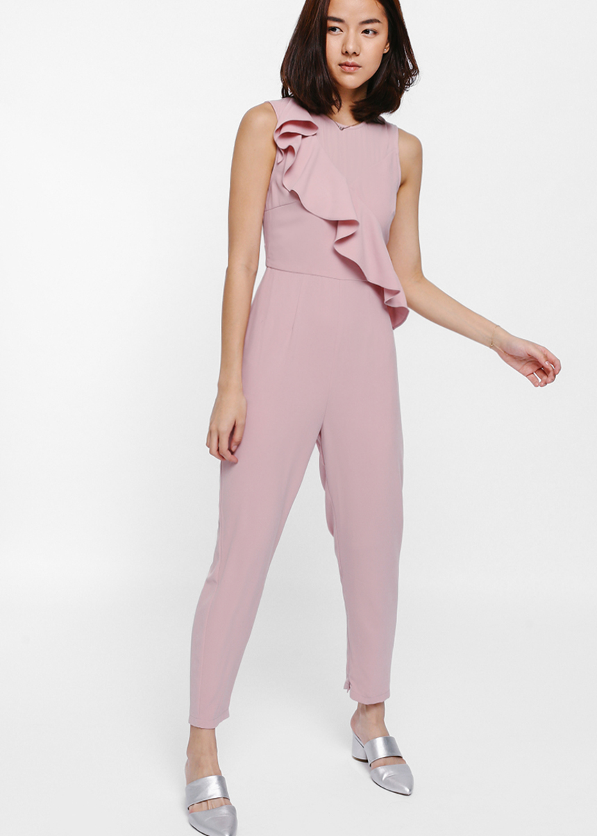 Jocasta Asymmetrical Ruffled Jumpsuit