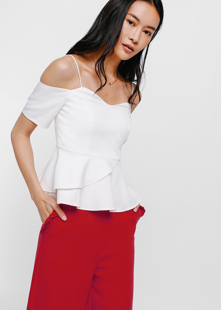 Ofiela Off Shoulder Layered Peplum Top