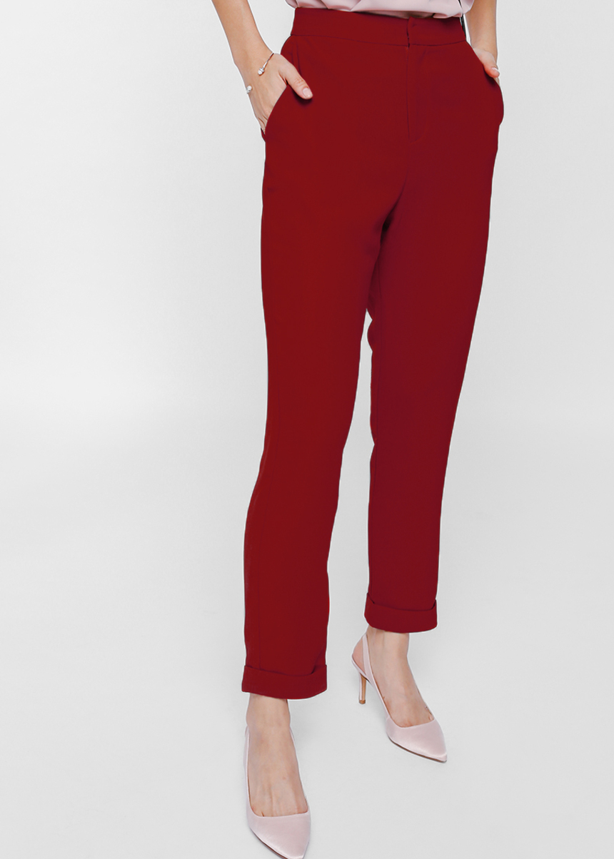 Paressa High Waist Cuffed Pants