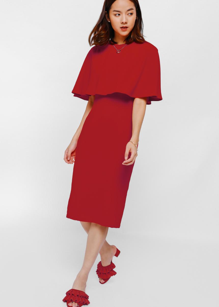 Uliana Layered Midi Dress