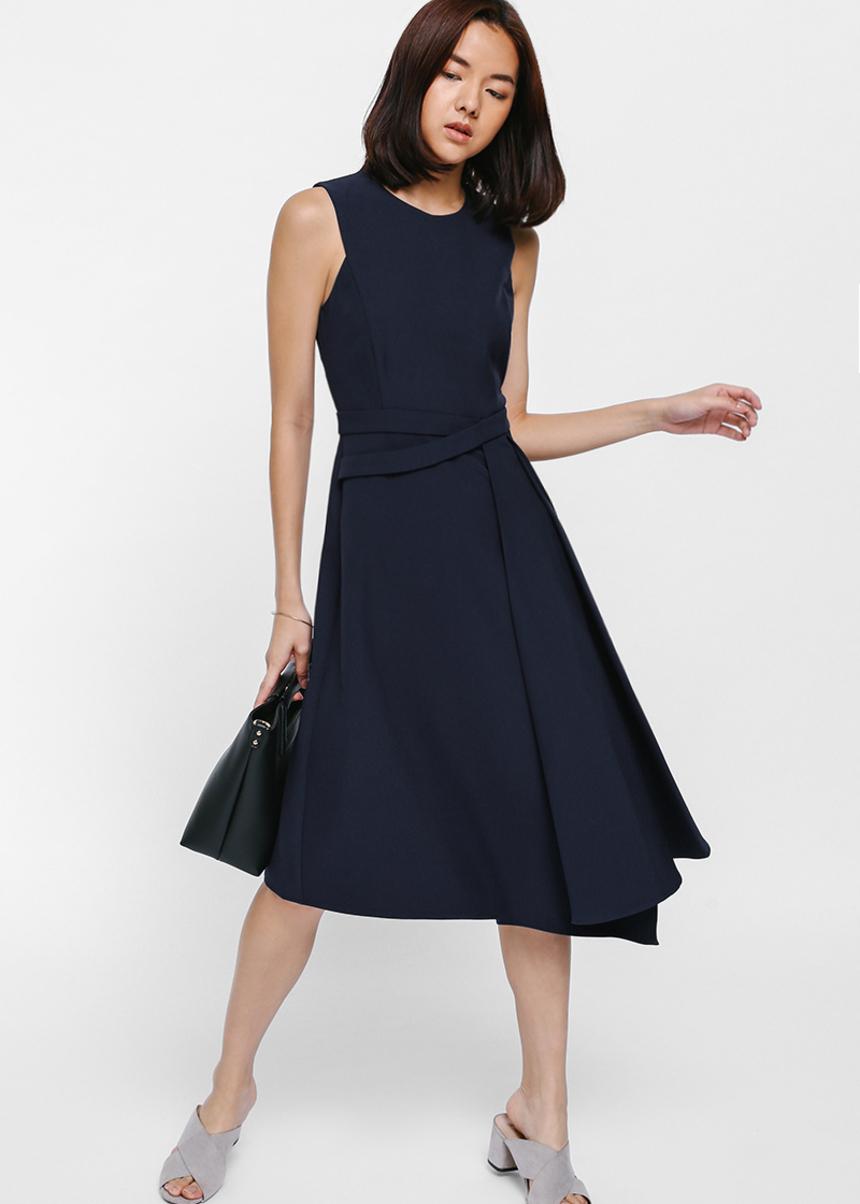 Dashaya Asymmetrical Midi Dress
