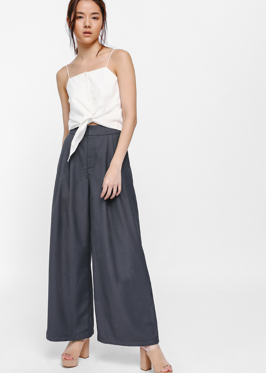 Nerra Pleat Wide Leg Pants