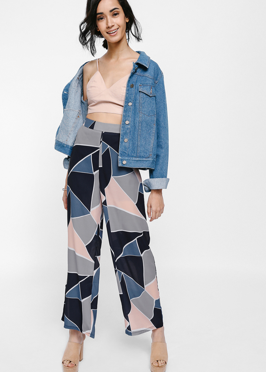 Modanna Printed Wide Leg Pants