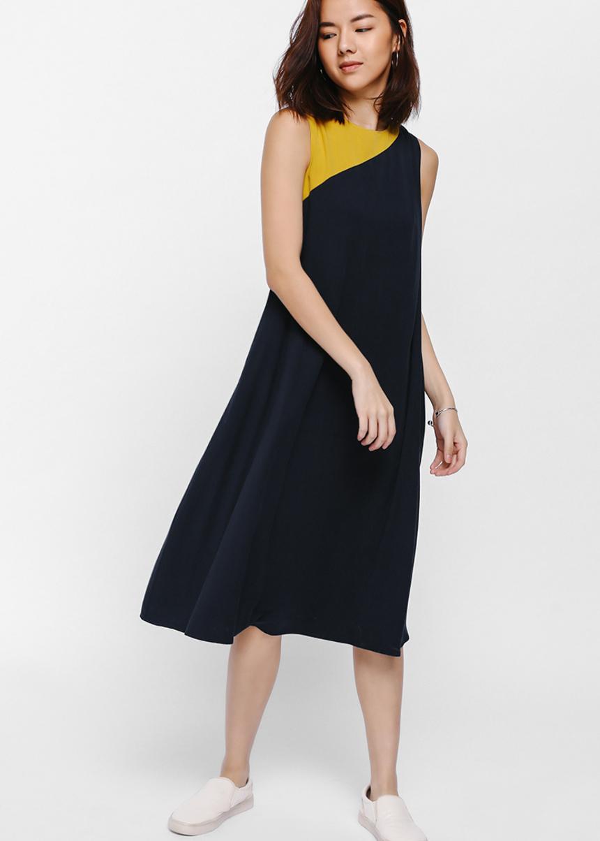 Molda Colourblock Midi Tent Dress