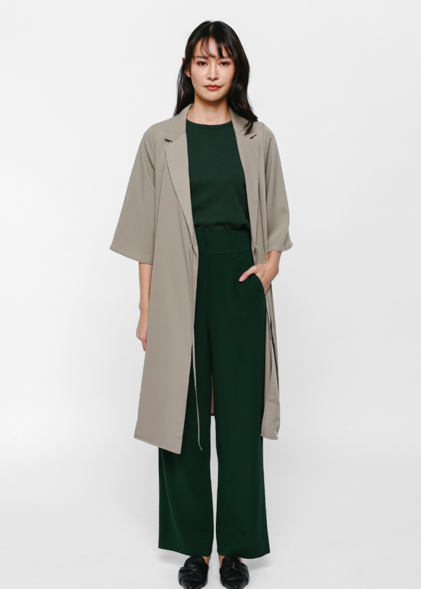 Jael Foldover Duster Coat