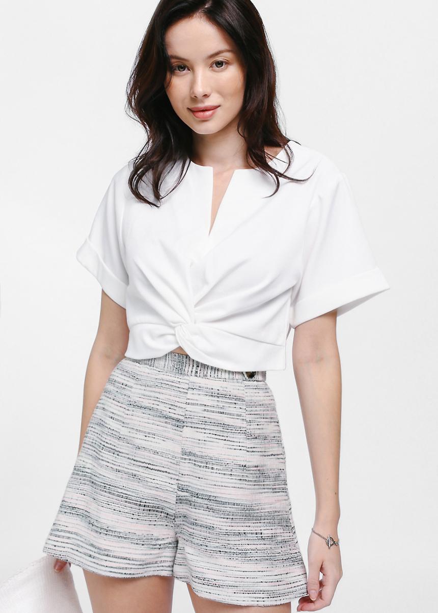Nanya Side Tab Tweed Shorts
