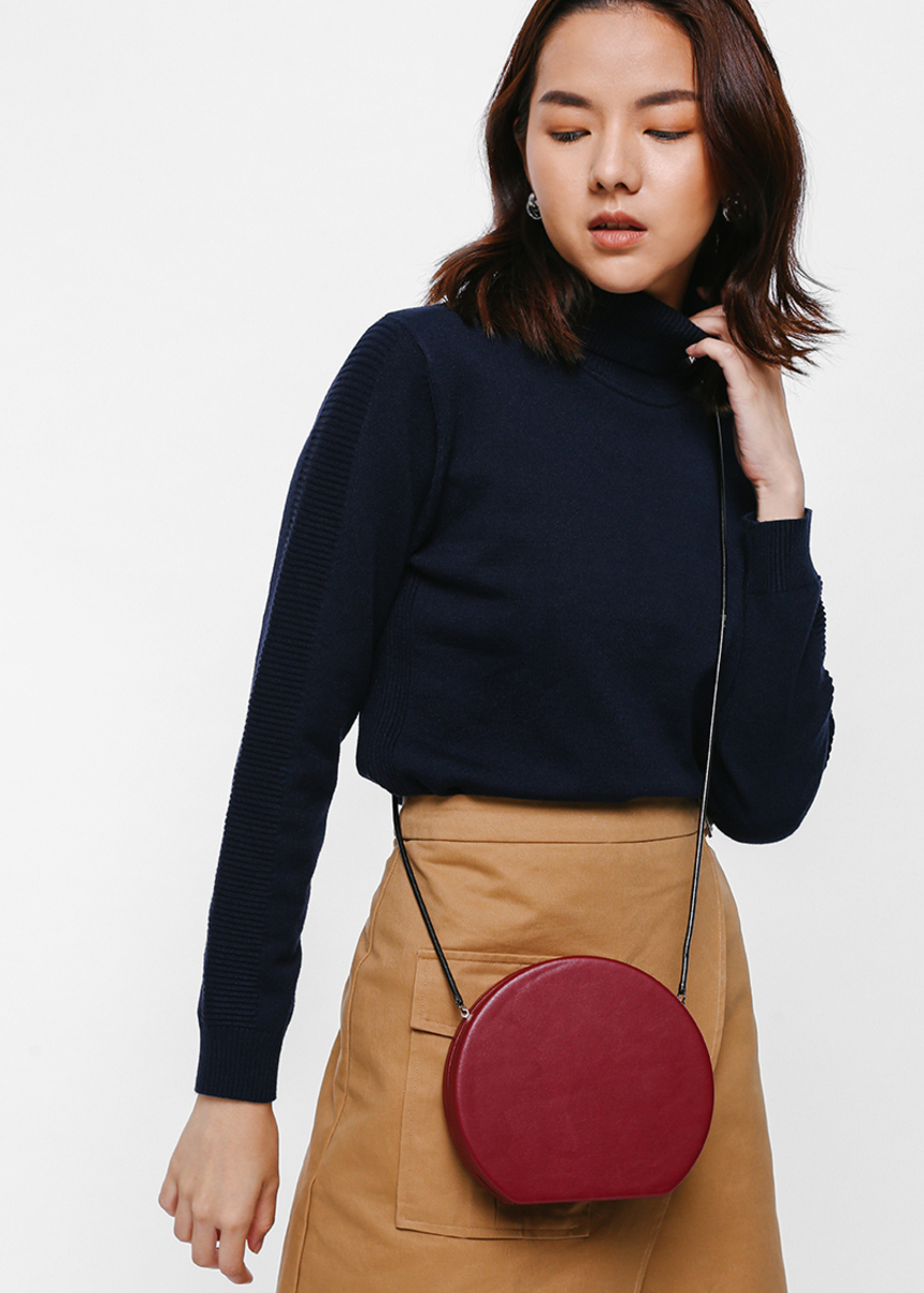 Ashynt Ribbed Sleeve Turtleneck Sweater