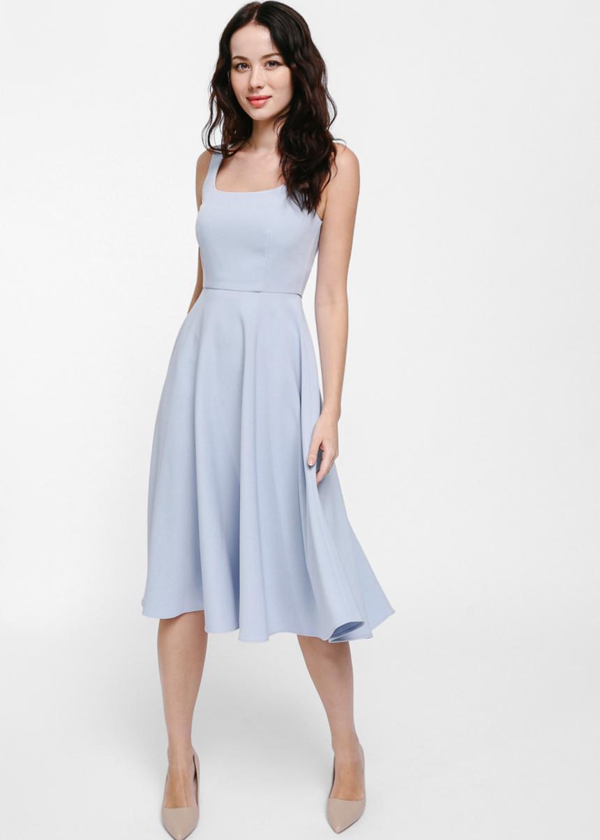 Aldren A-line Midi Dress