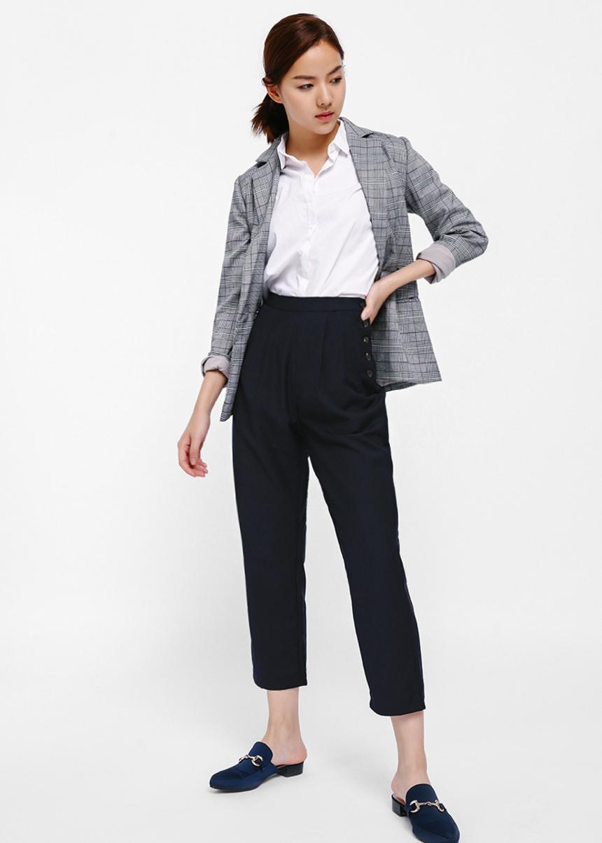 Sierrie Side Button Crop Pants