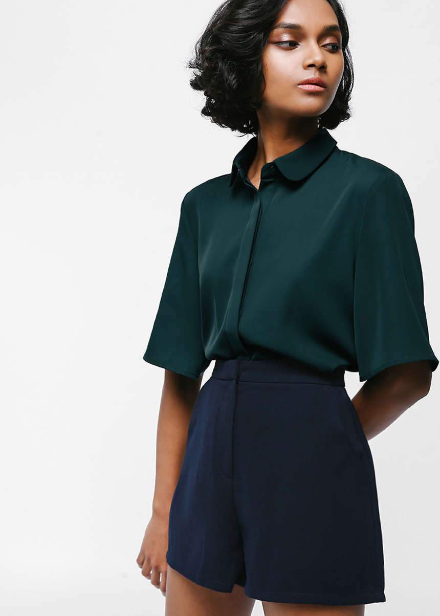 Yydine Boxy Button Front Shirt