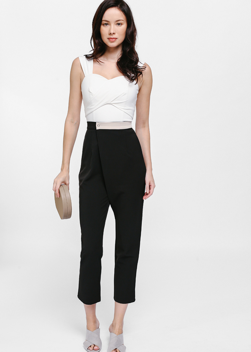 Caeryn Contrast Band Crossover Pants