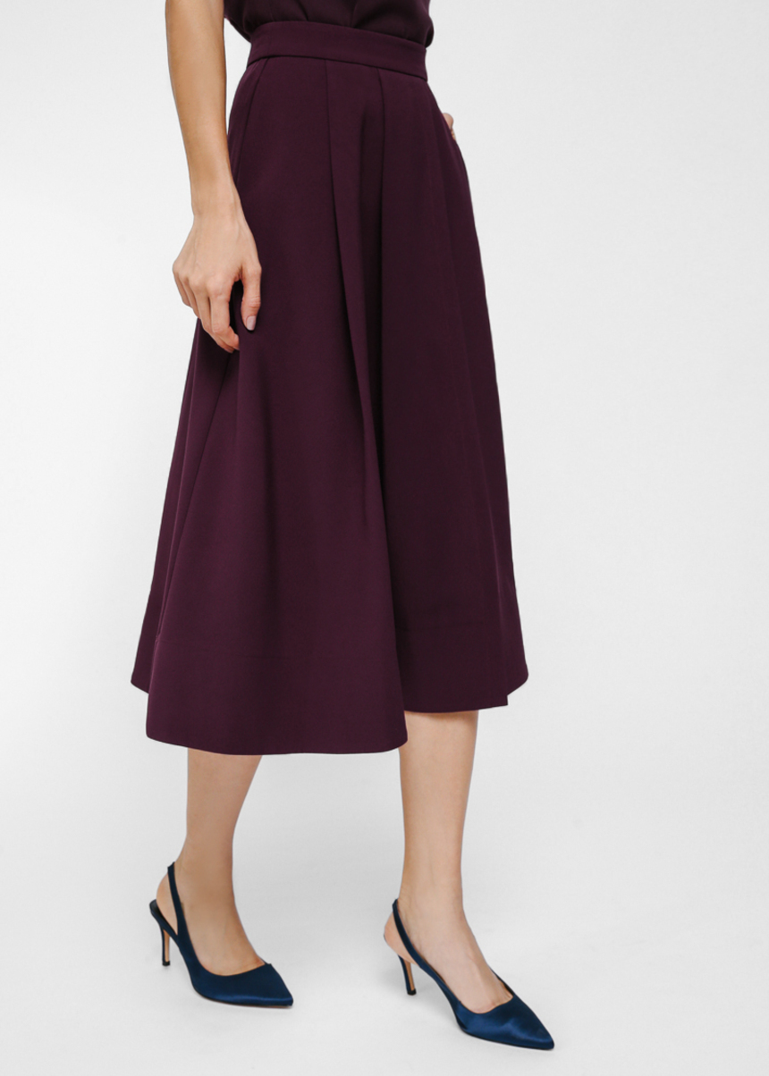 Pautryne Pleated Midi Skirt