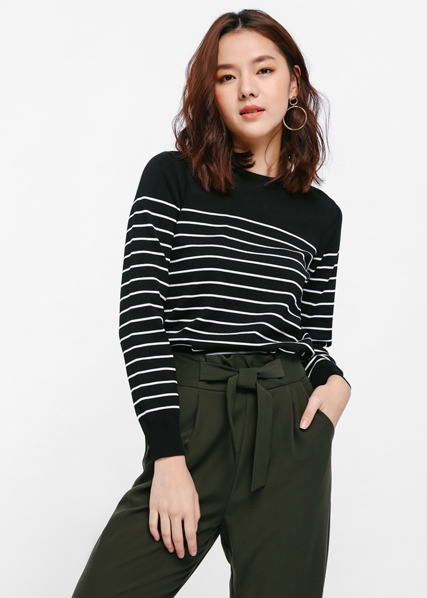 Sletta Striped Knit Sweater