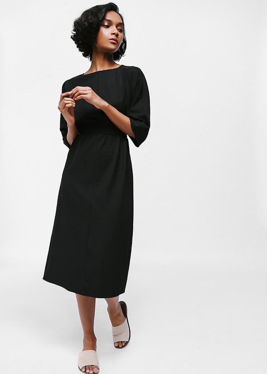 Qaedyn Sash Midi Dress