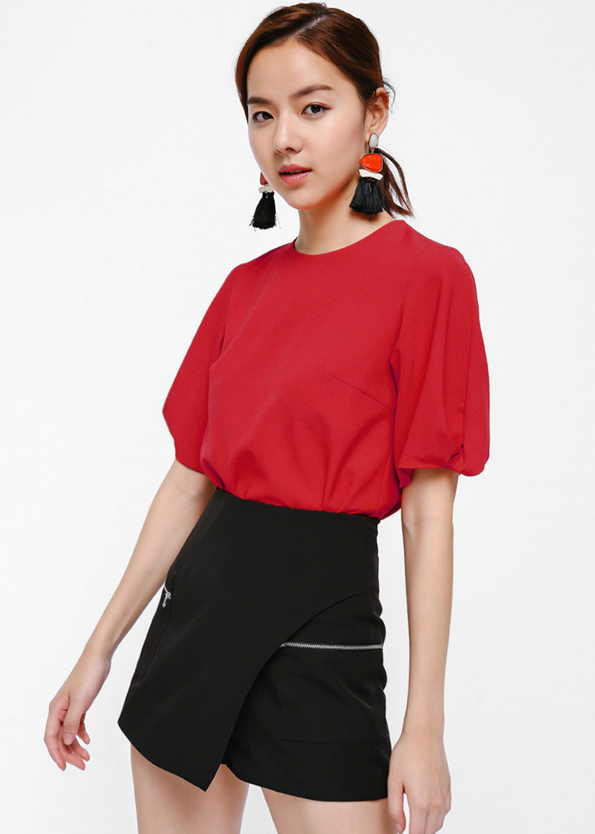 Abana Twist Sleeve Boxy Top