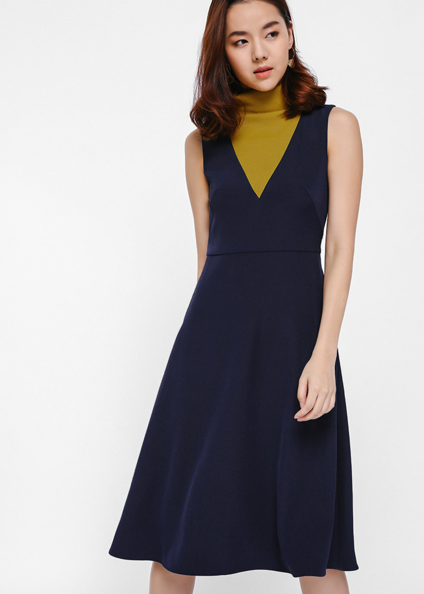 Oqlexa Colourblock Midi Dress