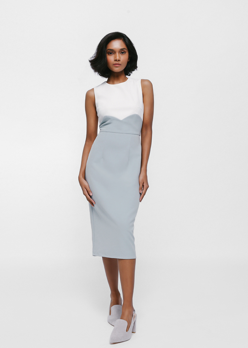 Merina Colourblock Midi Dress