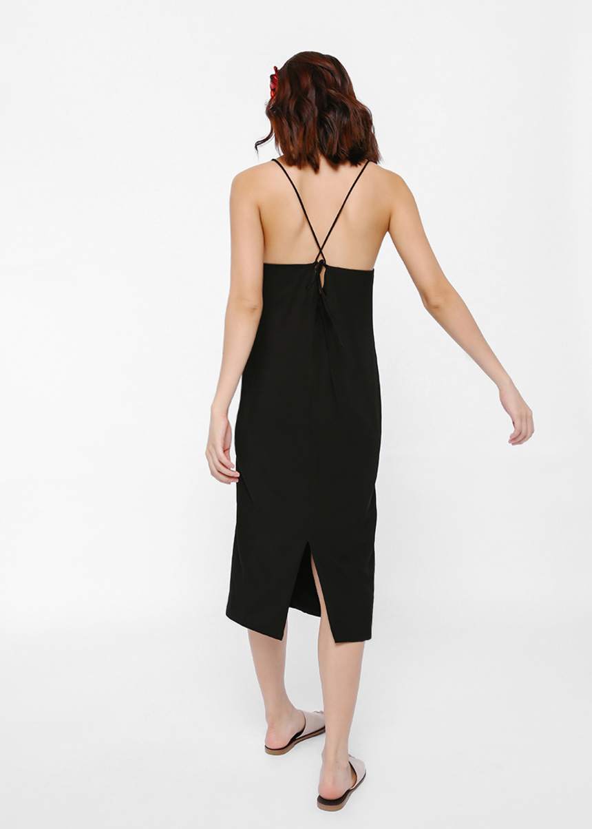 Lamille String Tie Back Slip Dress
