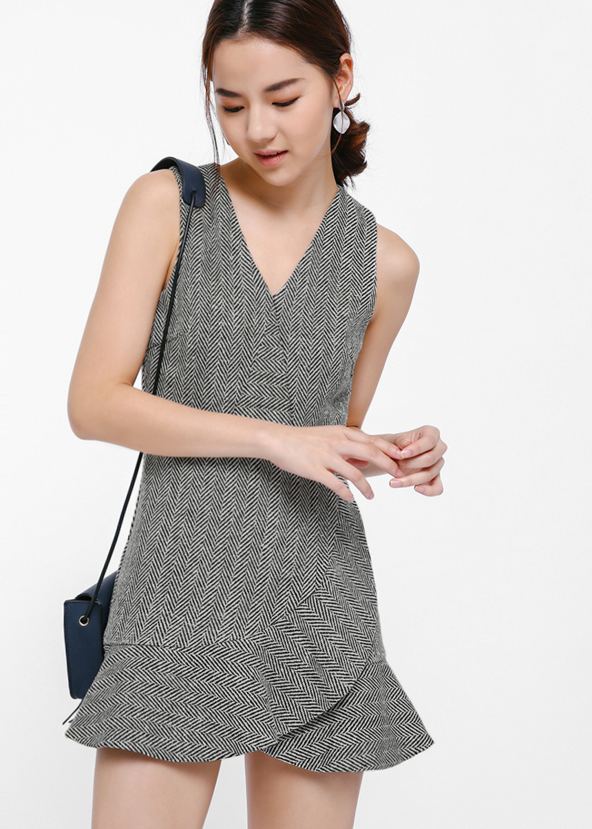 Pleise Asymmetrical Layered Playsuit