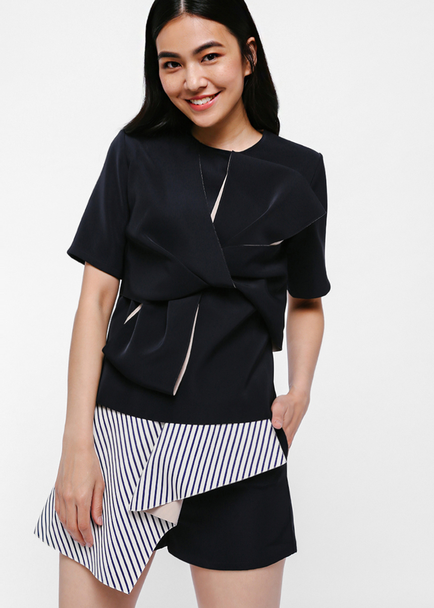 Breia Twist Knot Boxy Top