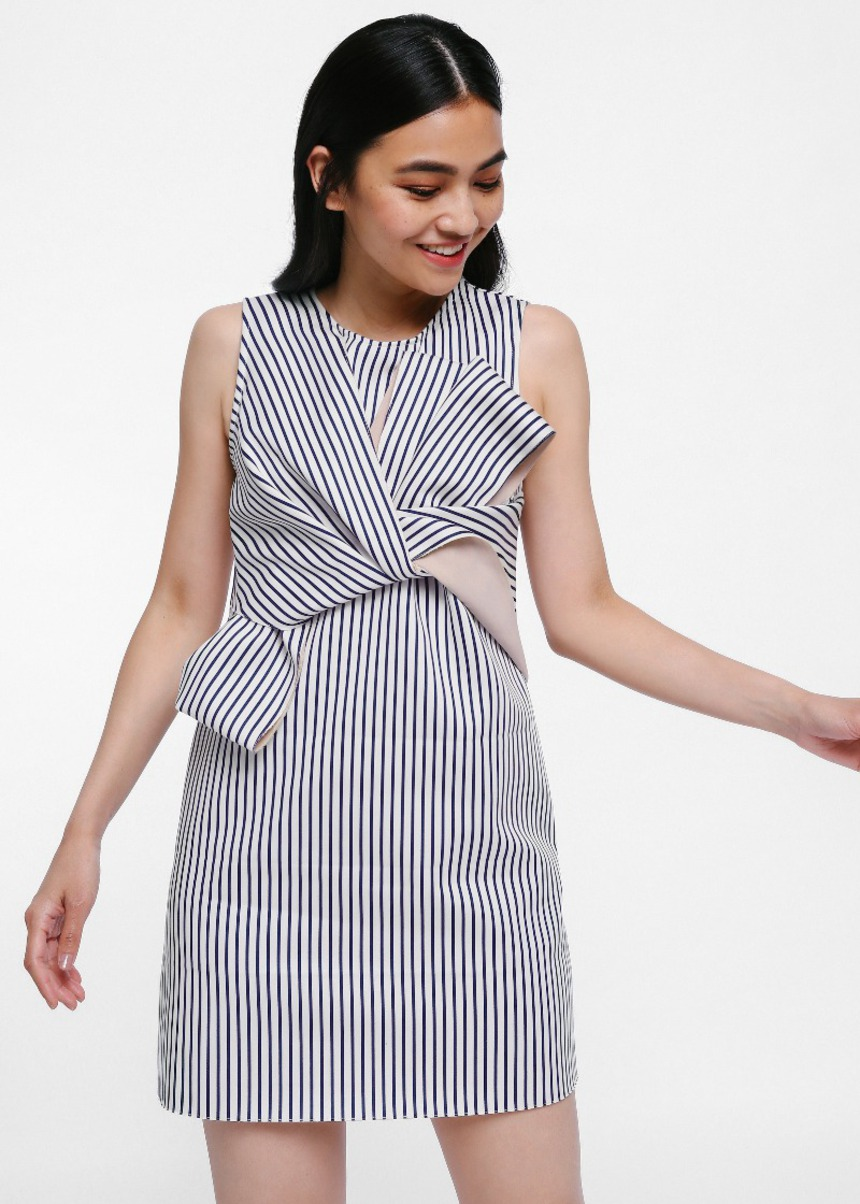 Treya Twist Knot Stripe Dress