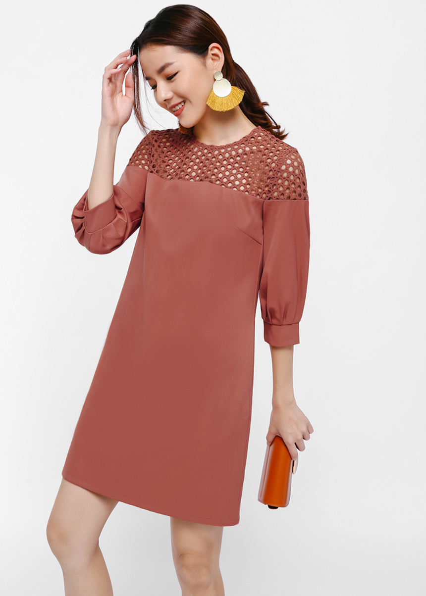 Lolanee Eyelet Yoke dress