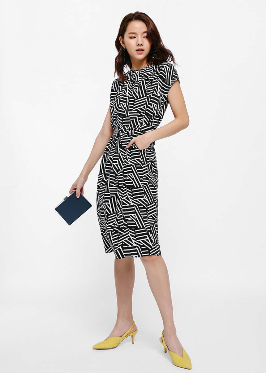 Kellis Geometric Print Dress