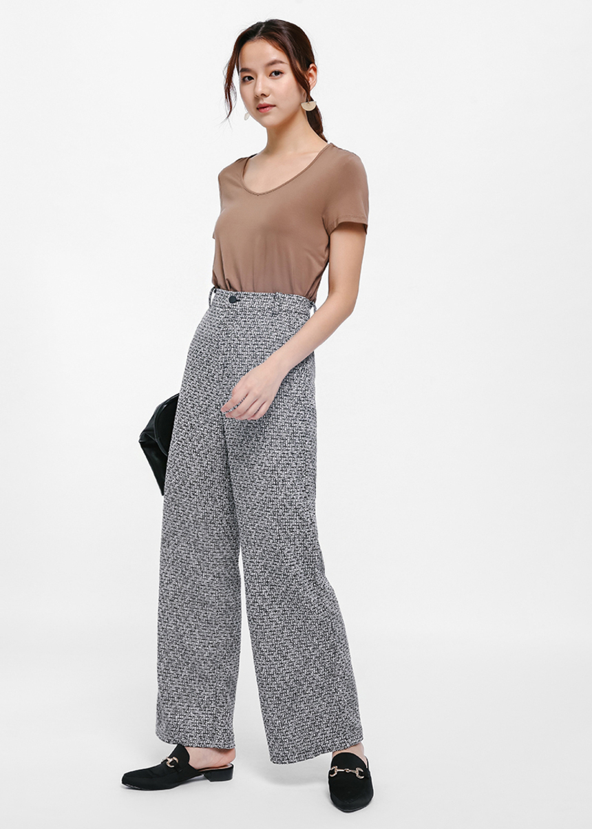 Arvo Tweed Wide-legged Pants