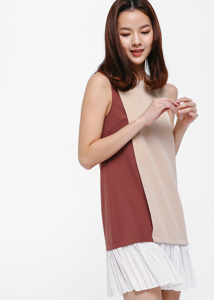 Glena Colourblock Layered Dress