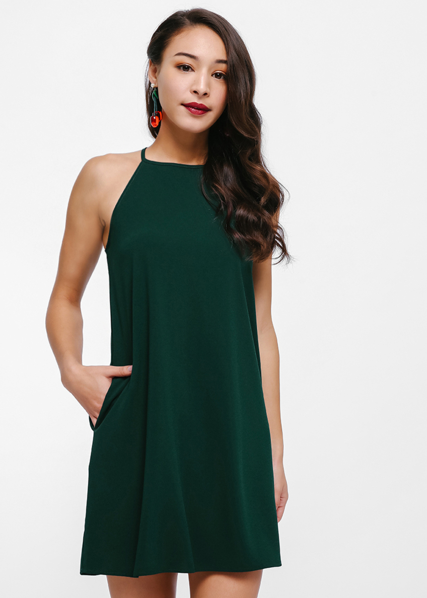 Ianela Halter Neck Slip Dress