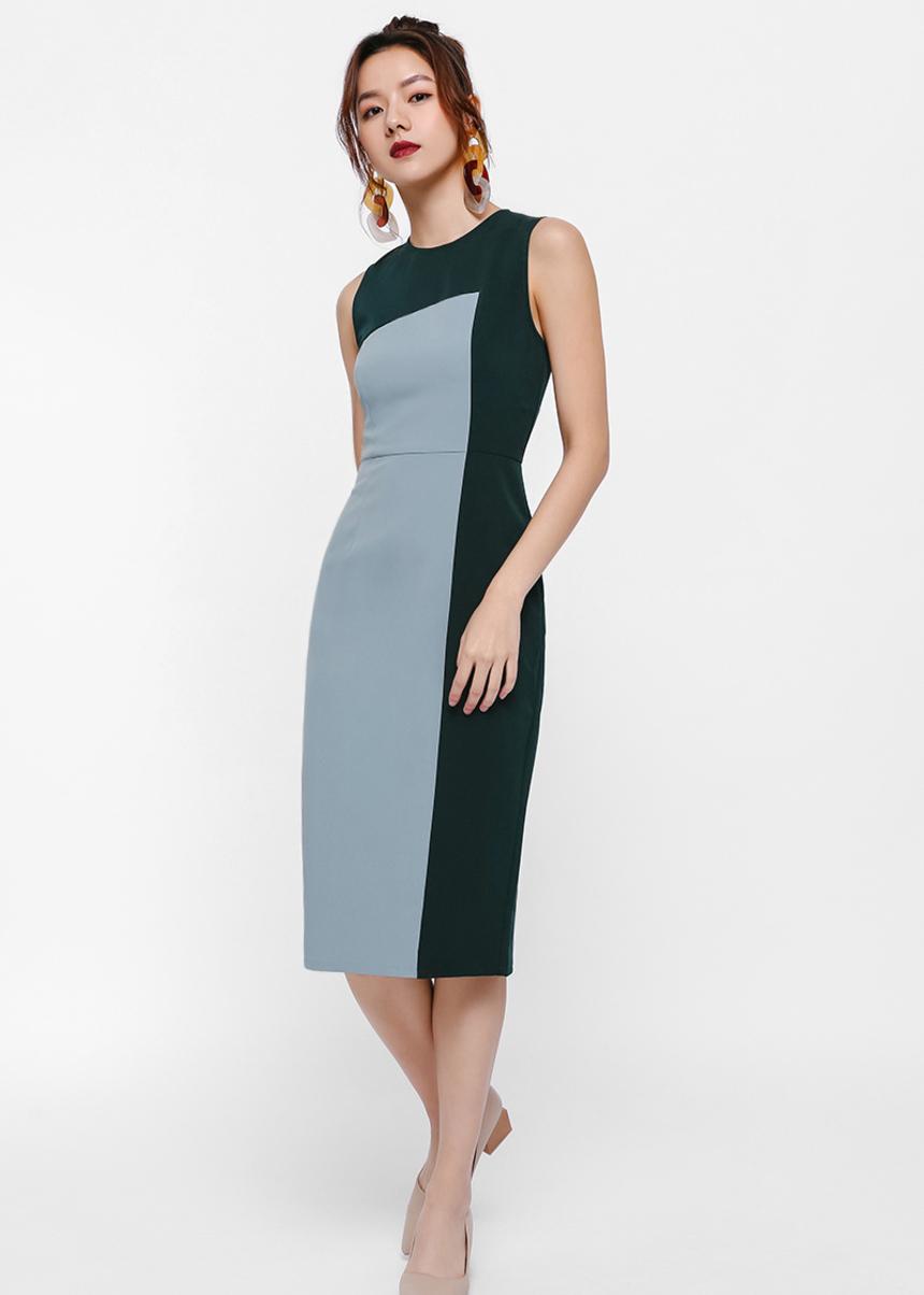 Vrian Colourblock Pencil Dress