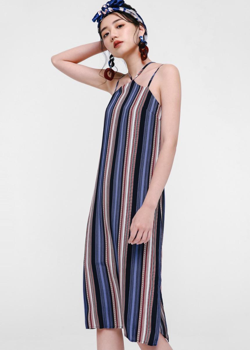 Jocelyn Printed Halter Neck Dress