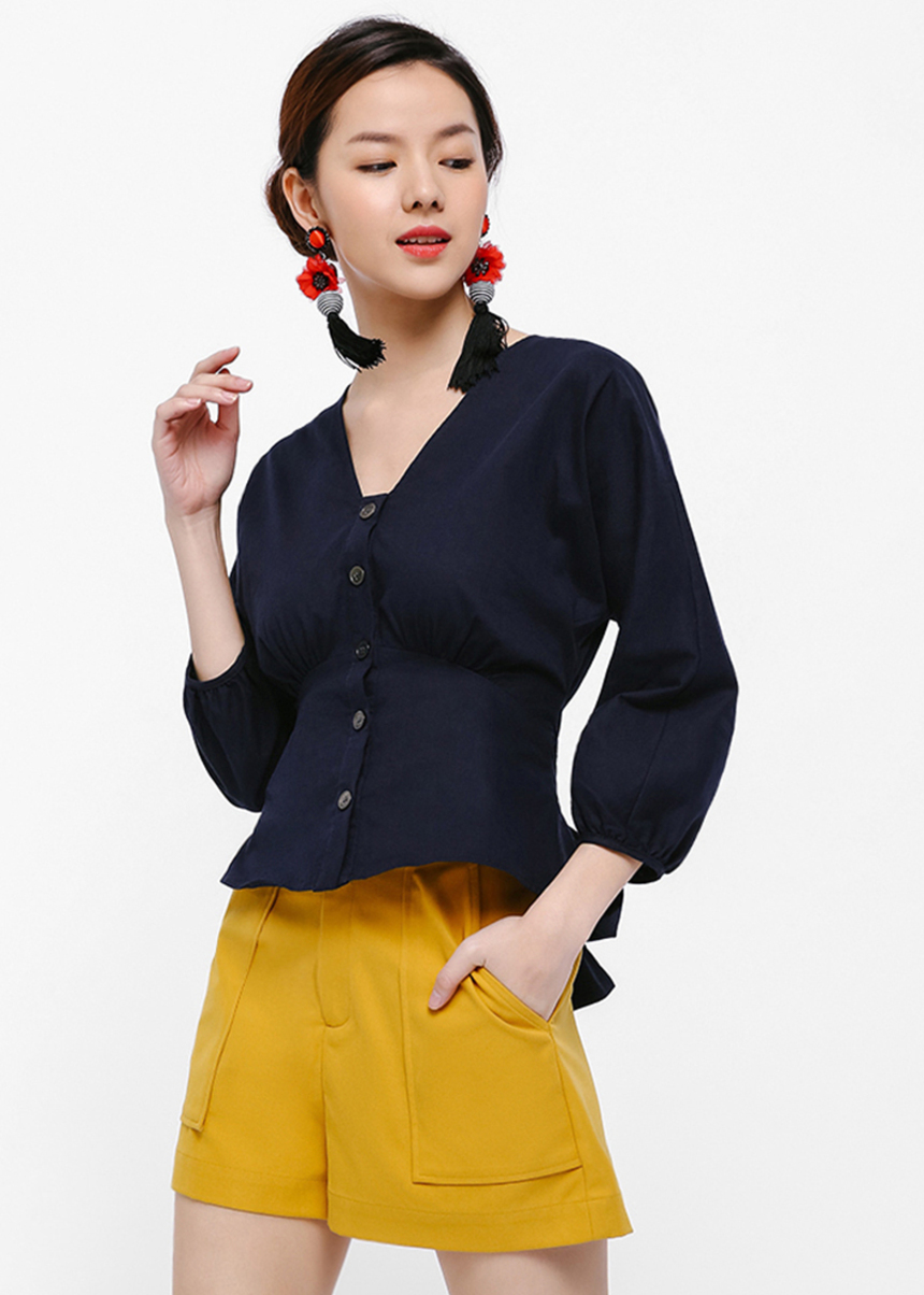 Juris Button Down Top