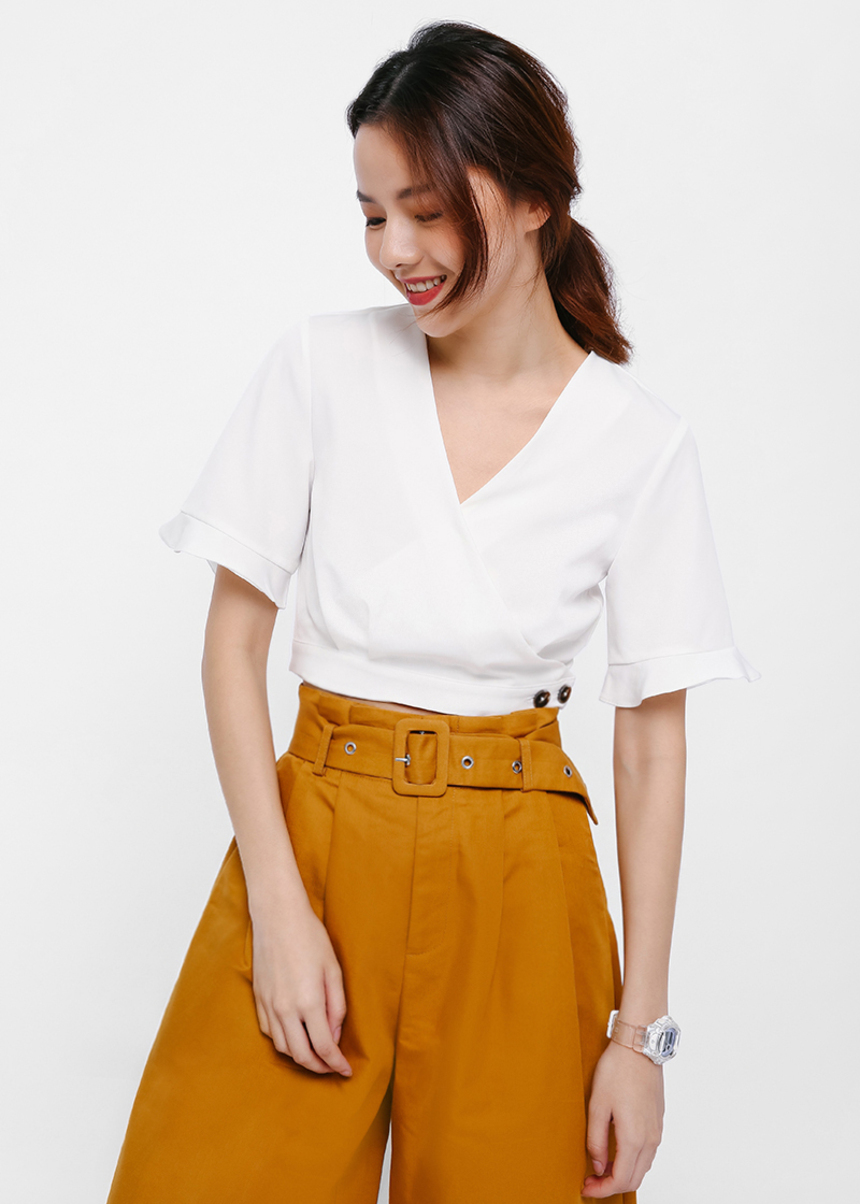 Carlisle Wrap Crop Top