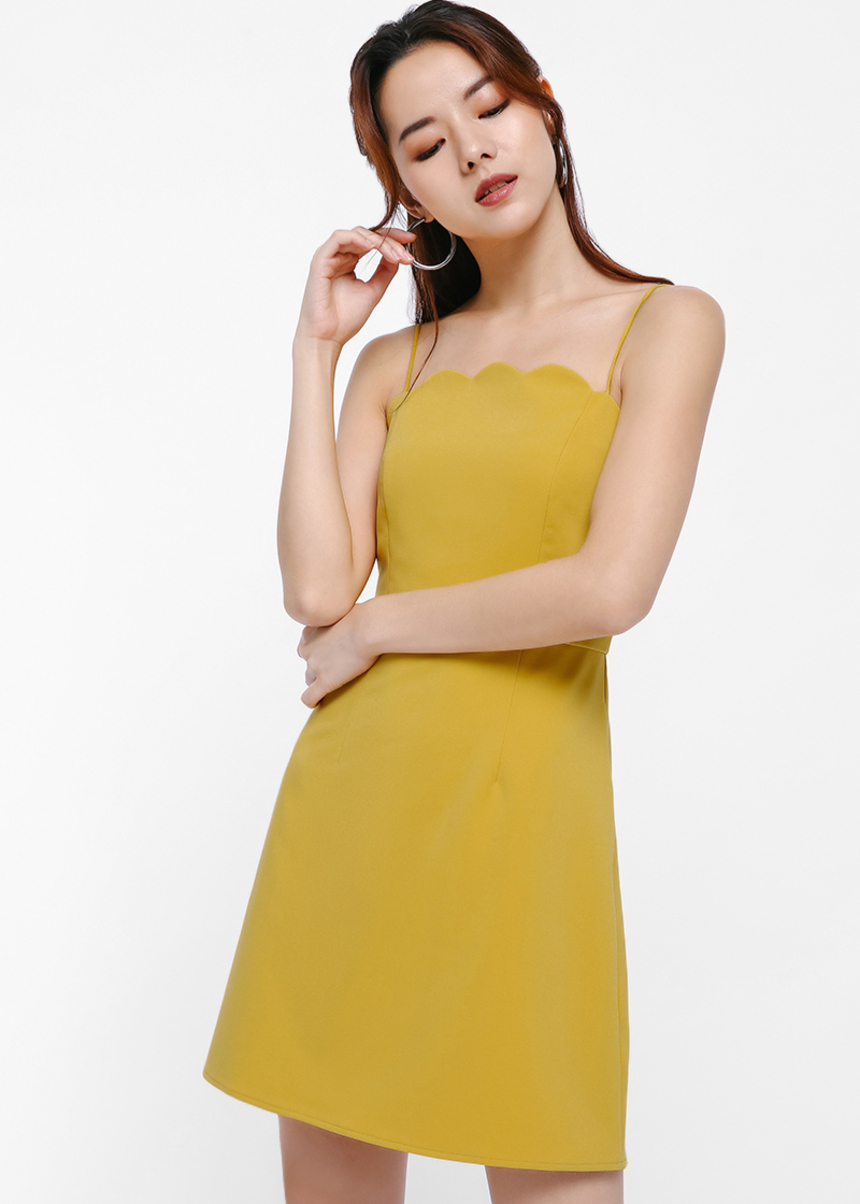 Nina Scallop Hem Camisole Dress