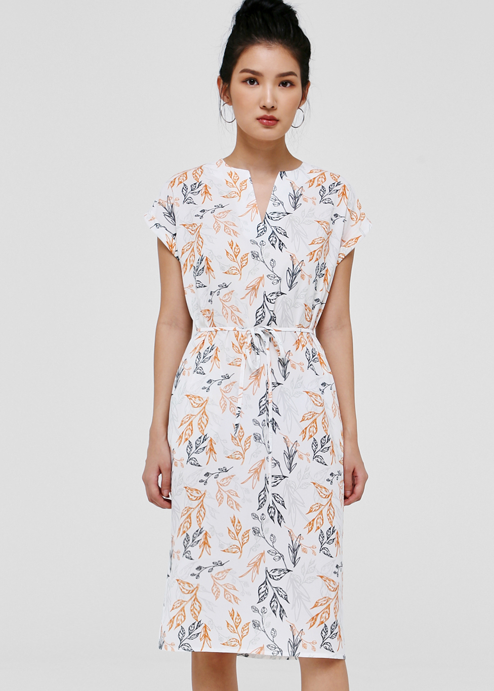 Elora Notch Neck Dress