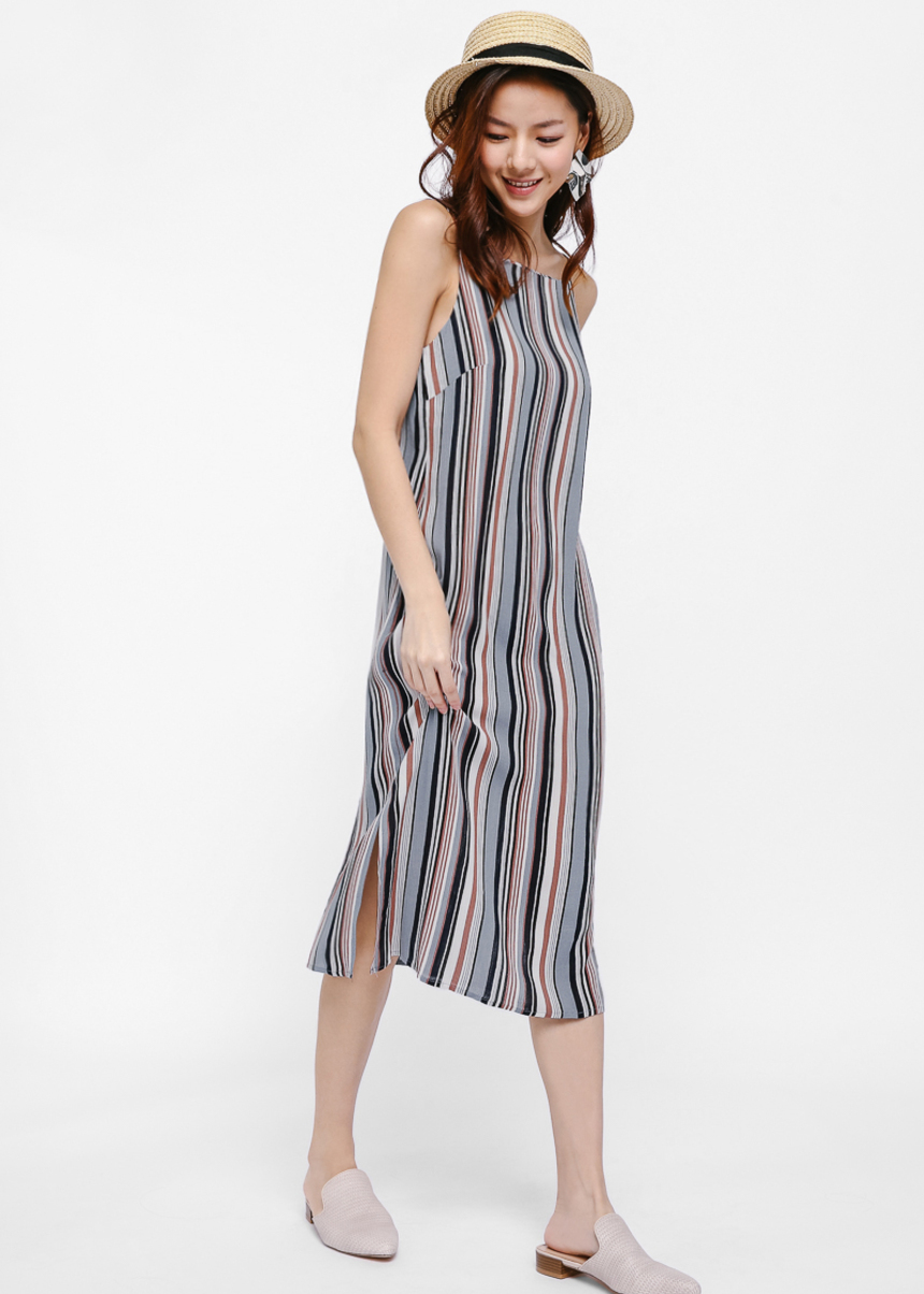 Paysley Stripe Midi Dress