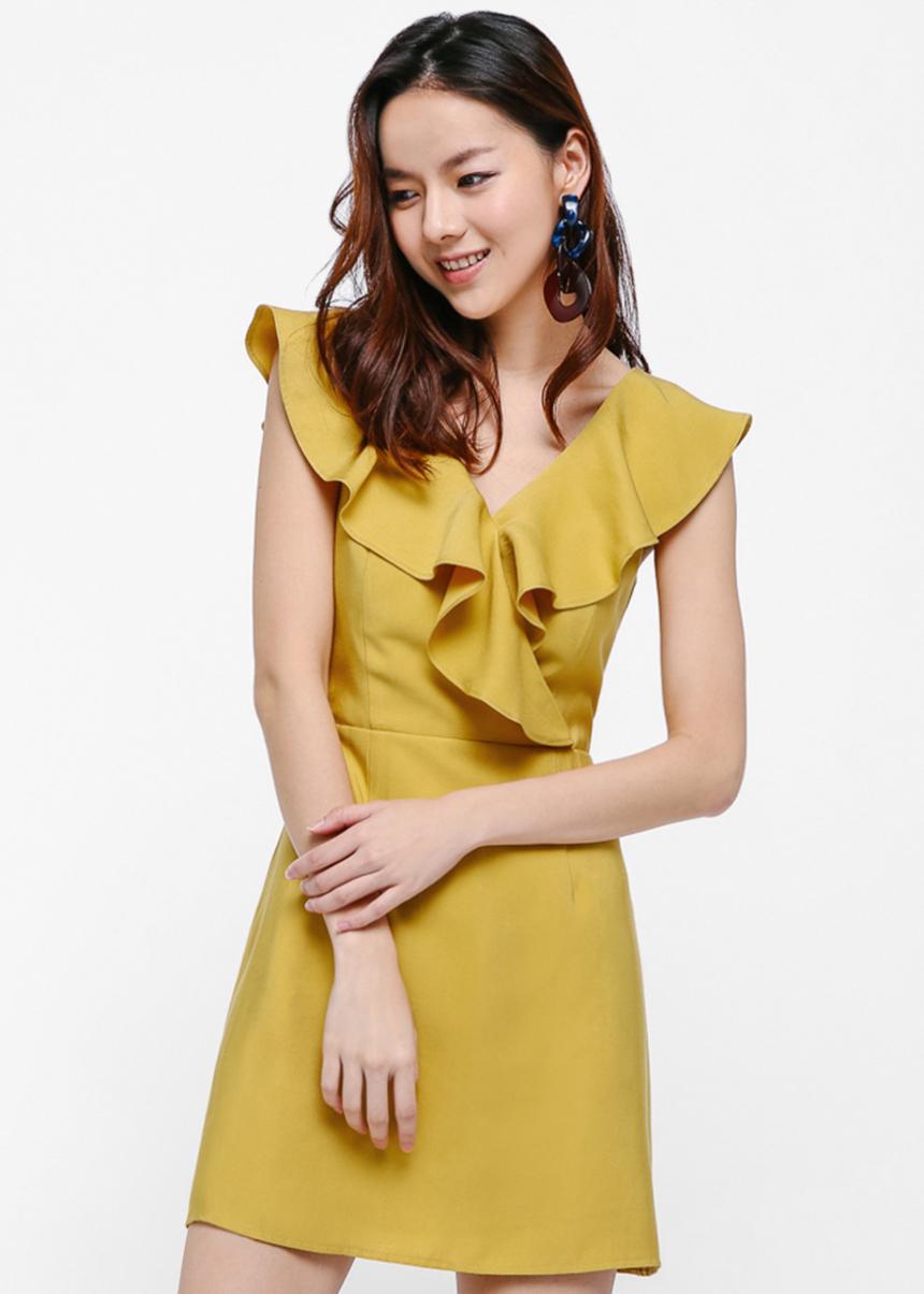 Eryn Ruffle Mini Dress