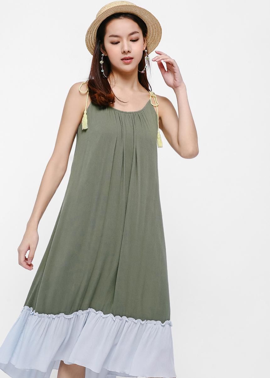 Daria Ruffle Hem Beach Dress