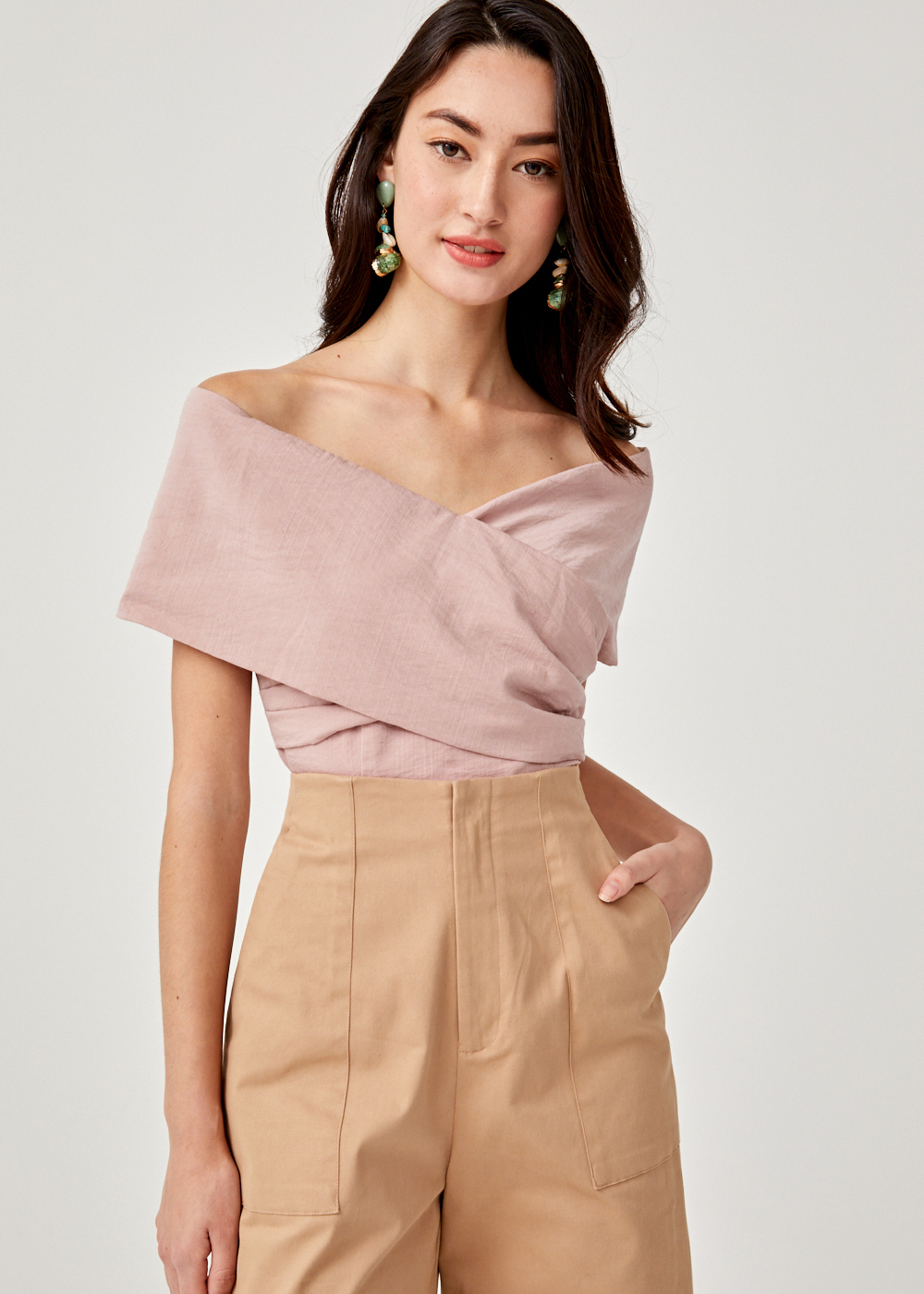 Tyara Off Shoulder Cross Front Top