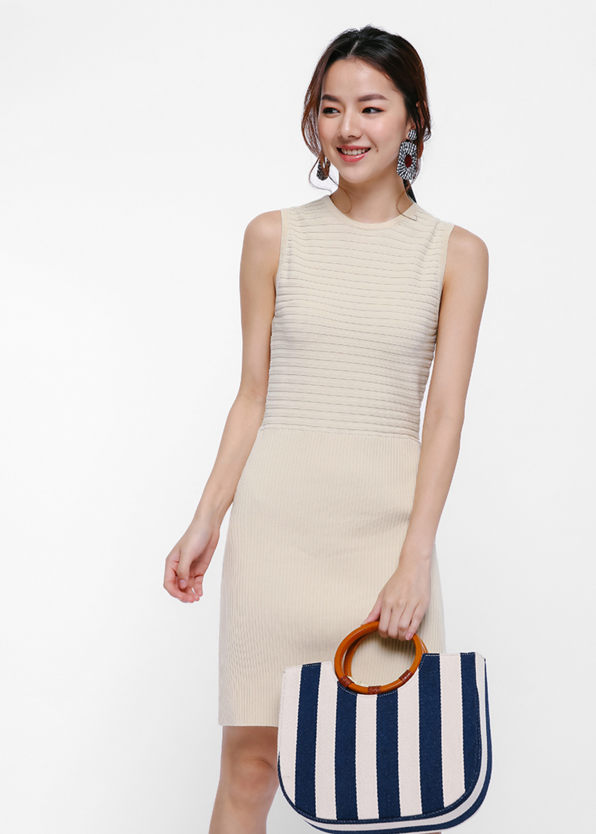 Juliette Ribbed Knit Dress