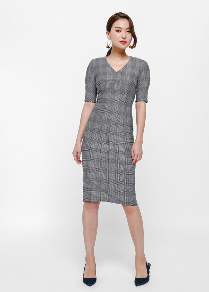 Pris Tweed Pencil Dress
