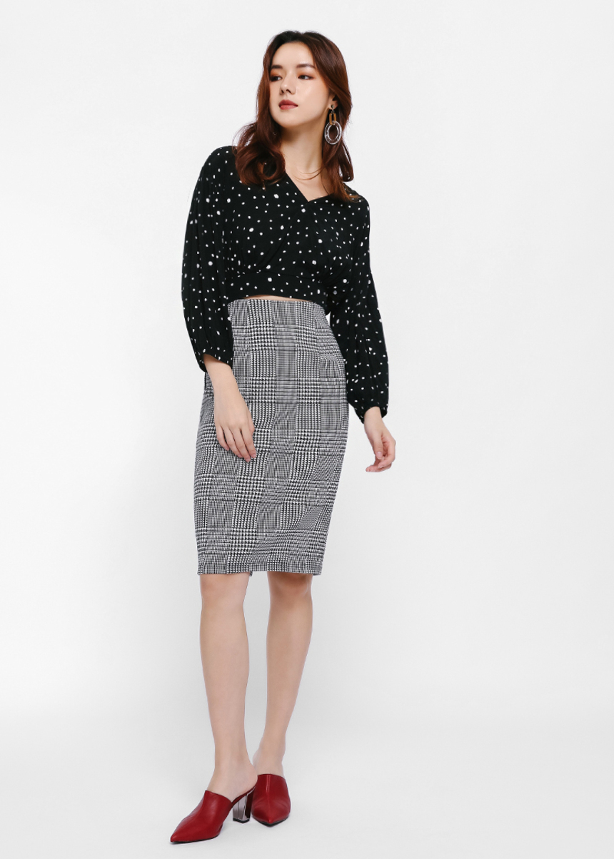 Mollina Tweed Pencil Skirt