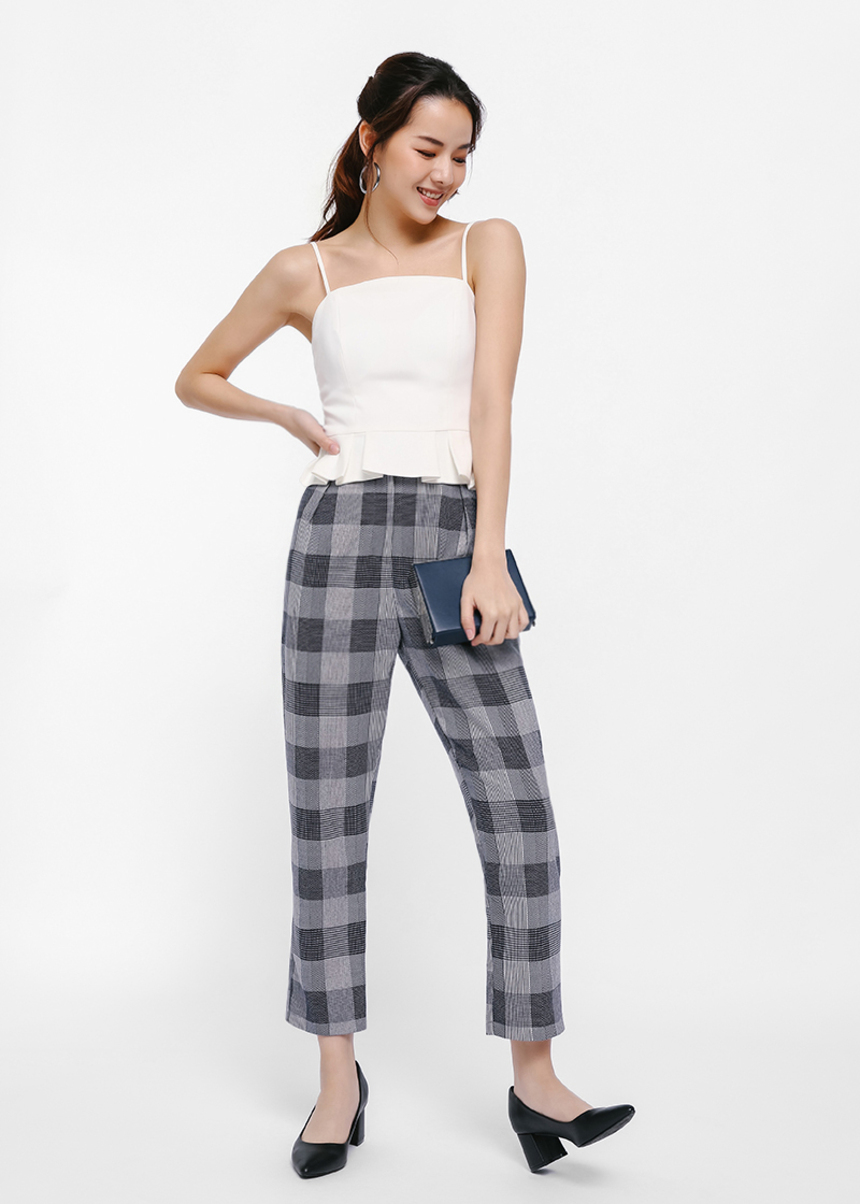 Kresten Plaid Cropped Pants
