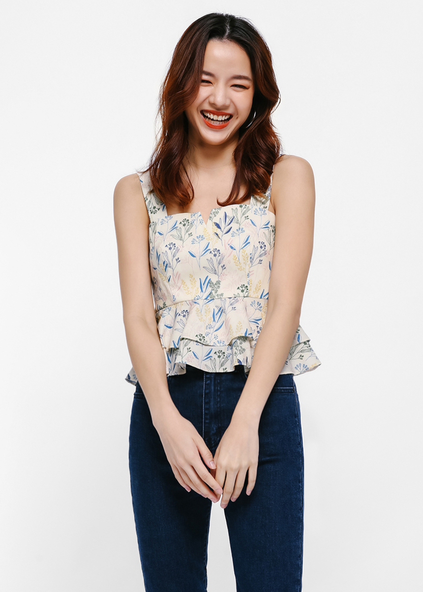 Saraphina Printed Strappy Top